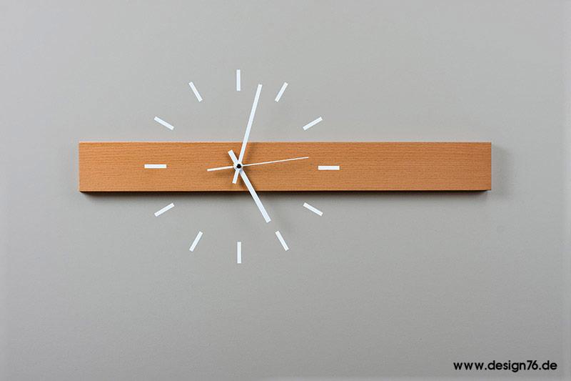 Design Wanduhr Buche Geölt Online Kaufen