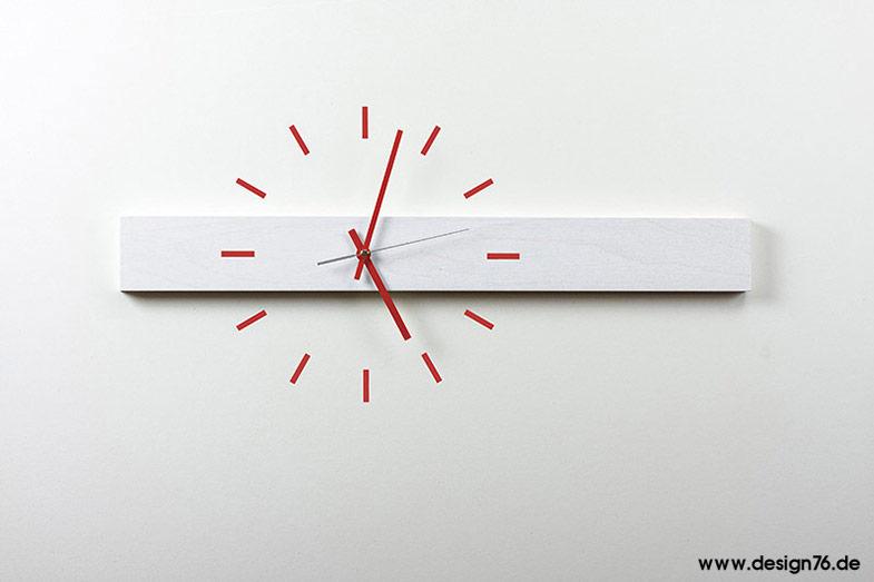 design wanduhr buche wei lasiert online kaufen