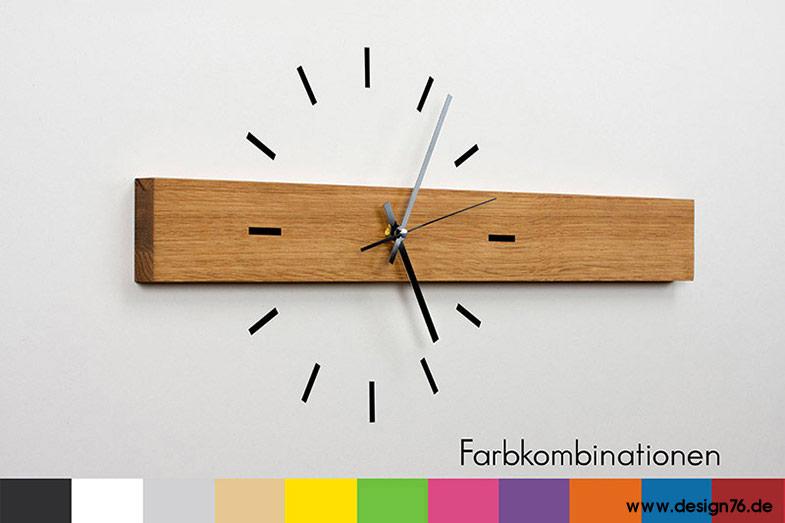 Design wanduhr eiche online kaufen - Wohnzimmer wanduhren holz ...