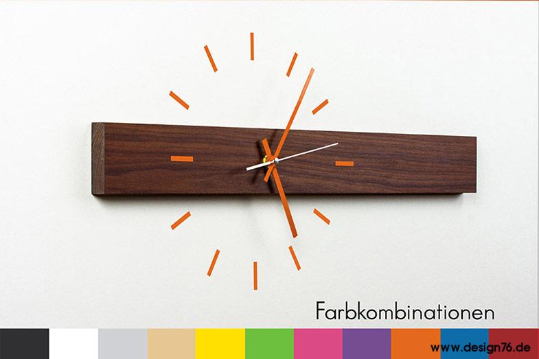 Design wanduhr nussbaum zifferblatt online kaufen - Designer wanduhren wohnzimmer ...