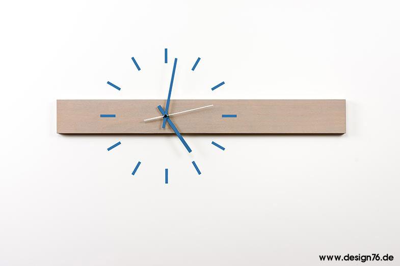 Design wanduhr buche grau ge lt online kaufen for Versand design
