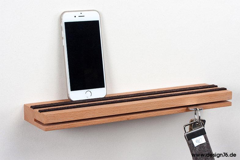 schl sselbrett buche ge lt modern mit ablage online kaufen. Black Bedroom Furniture Sets. Home Design Ideas