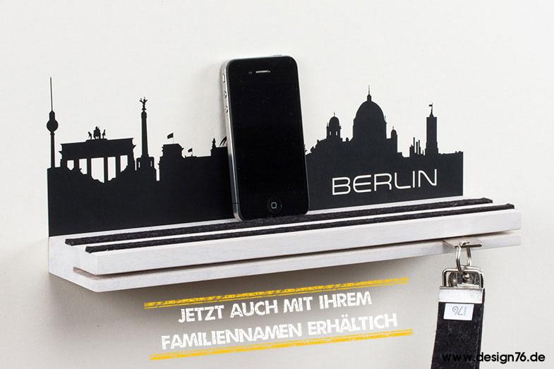 Schlüsselbrett mit deutschen Skylines -online kaufen- weiß